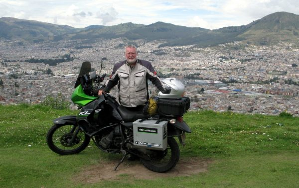 Rick on his RideToChile.com